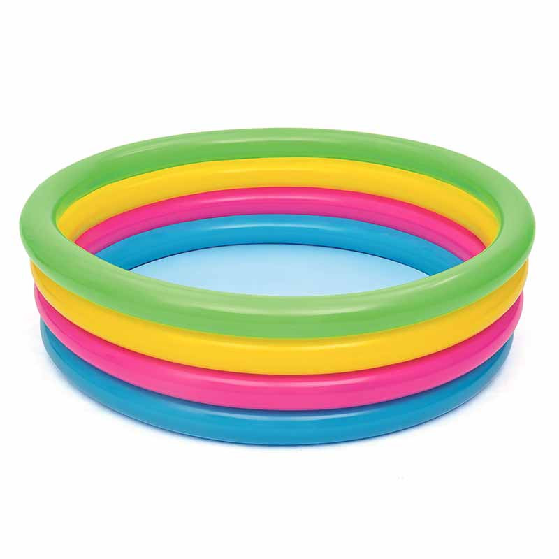 Piscina inflable 4 anillos colores. Ø157 x 46 cm.
