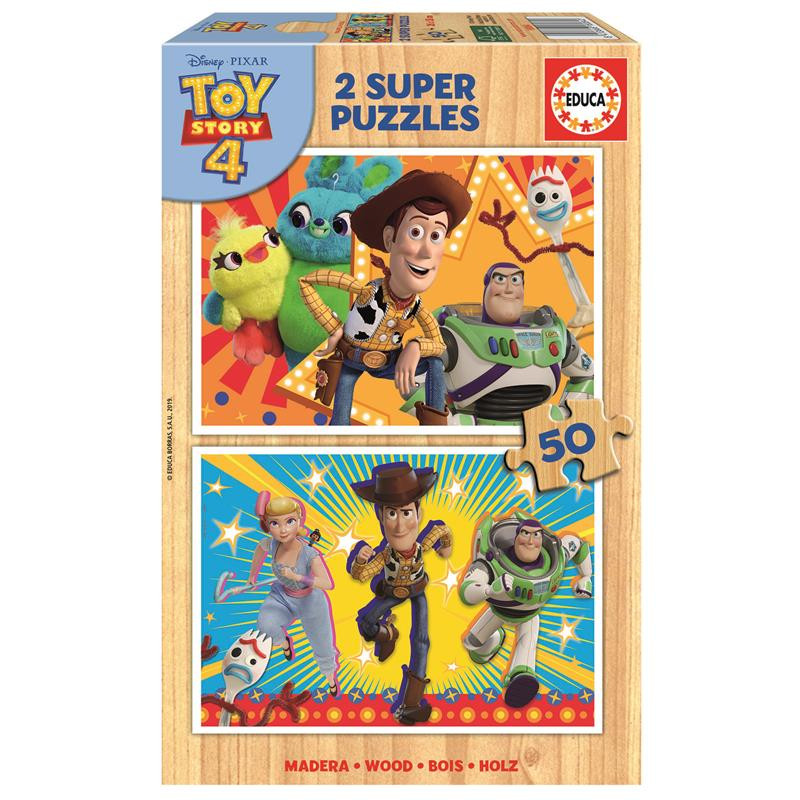 Educa puzzle madera 2x50 Toy Story 4